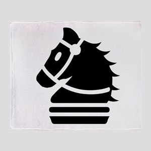 Knight Chess Piece Throw Blanket