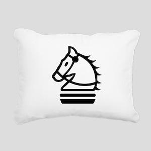 Knight Chess Piece Rectangular Canvas Pillow
