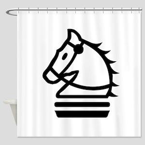 Knight Chess Piece Shower Curtain
