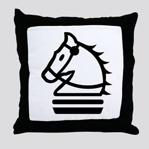 Knight Chess Piece Throw Pillow
