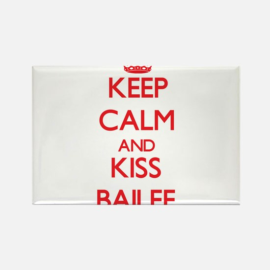 Keep Calm and Kiss Bailee Magnets