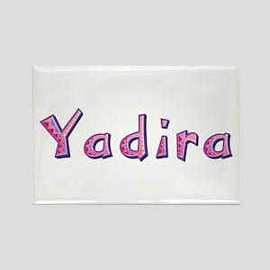 Yadira Pink Giraffe Rectangle Magnet