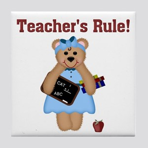 Teacher's Rule Tile Coaster