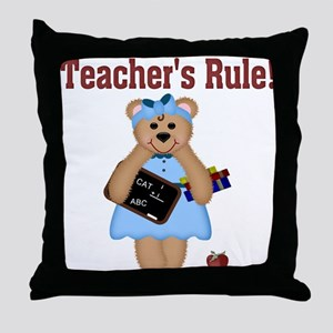Teacher's Rule Throw Pillow