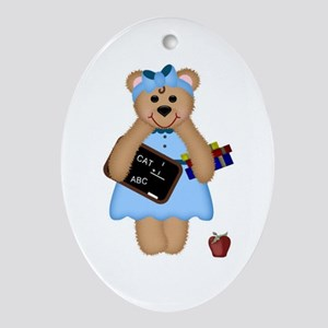 Teacher's Rule Oval Ornament