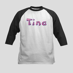 Tina Pink Giraffe Baseball Jersey