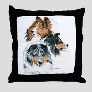 Sheltie Portraits Throw Pillow
