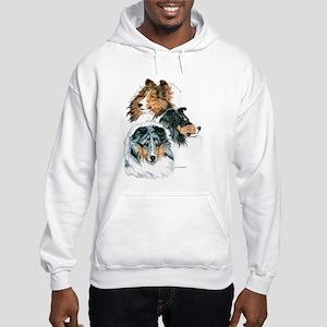 Sheltie Portraits Hooded Sweatshirt