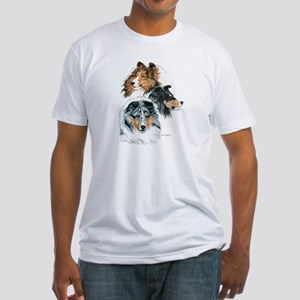 Sheltie Portraits Fitted T-Shirt