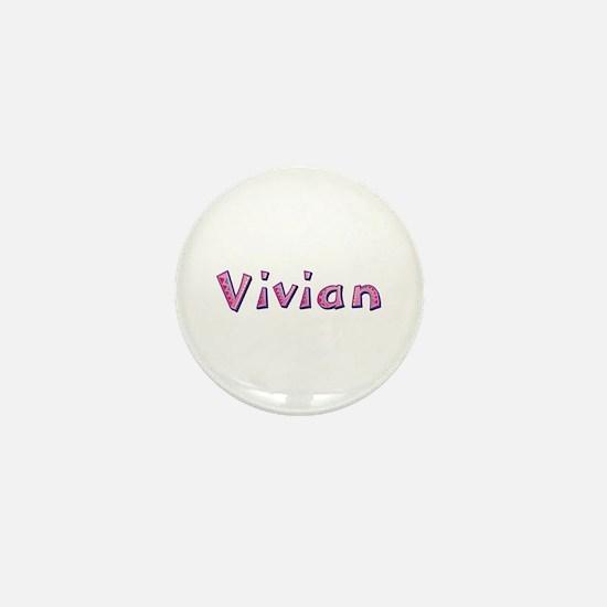 Vivian Pink Giraffe Mini Button