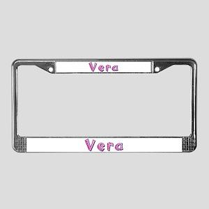 Vera Pink Giraffe License Plate Frame