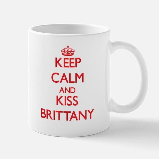 Keep Calm and Kiss Brittany Mugs