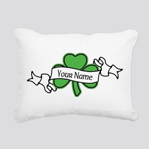 Shamrock CUSTOM TEXT Rectangular Canvas Pillow