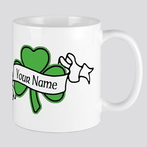 Shamrock CUSTOM TEXT Mugs