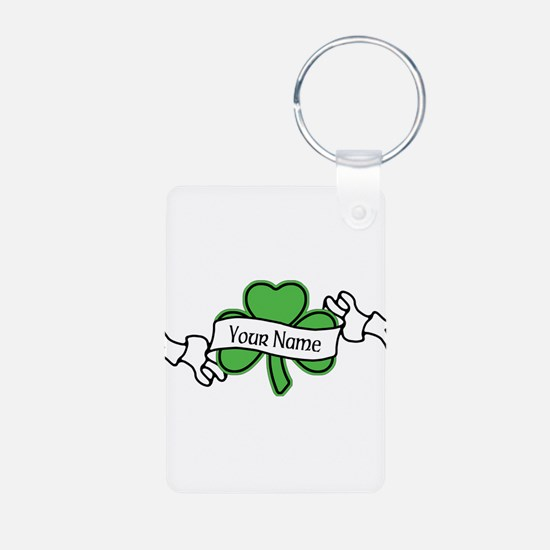 Shamrock CUSTOM TEXT Keychains