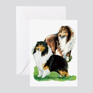 Sheltie Paintings Greeting Cards (Pk of 10)