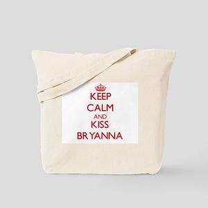 Keep Calm and Kiss Bryanna Tote Bag