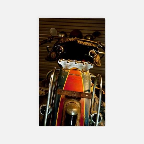 Cute Motorcycle Seat Area Rug