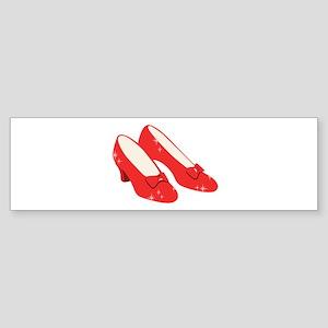 Wizard Of Oz Ruby Slippers Bumper Sticker
