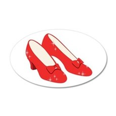 Wizard Of Oz Ruby Slippers Wall Decal