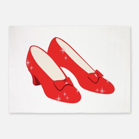Wizard Of Oz Ruby Slippers 5'x7'Area Rug