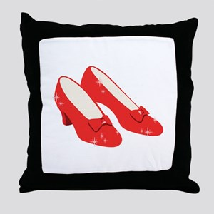 Wizard Of Oz Ruby Slippers Throw Pillow