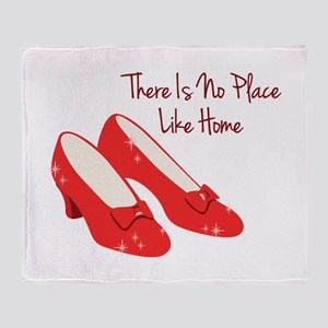 There Is No Place Like Home Throw Blanket