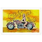 popart Motorcycle girl Poster Art