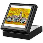 popart Motorcycle girl Keepsake Box