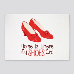 Home Is Where My Shoes Are 5'x7'Area Rug