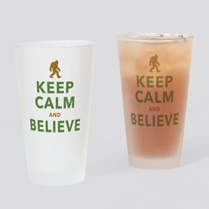 Keep Calm and Believe Drinking Glass