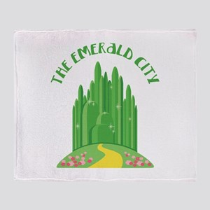 The Emerald City Throw Blanket