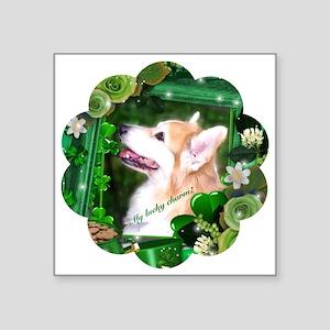 St Patricks Day Corgi Dog Sticker