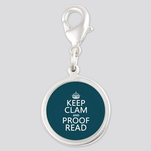 Keep Calm and Proof Read (clam) Charms