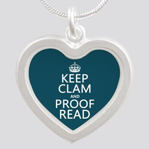 Keep Calm and Proof Read (clam) Necklaces