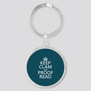 Keep Calm and Proof Read (clam) Keychains