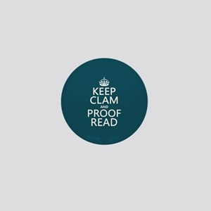 Keep Calm and Proof Read (clam) Mini Button