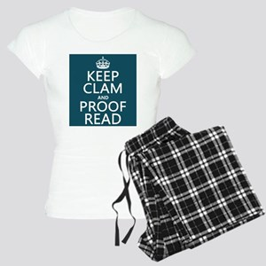 Keep Calm and Proof Read (clam) pajamas
