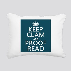 Keep Calm and Proof Read (clam) Rectangular Canvas