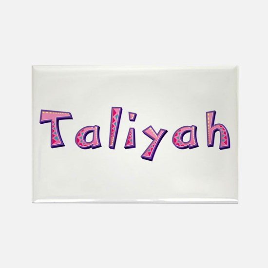 Taliyah Pink Giraffe Rectangle Magnet