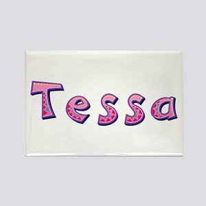 Tessa Pink Giraffe Rectangle Magnet