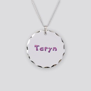 Taryn Pink Giraffe Necklace Circle Charm