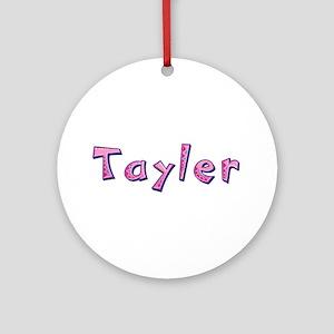 Tayler Pink Giraffe Round Ornament