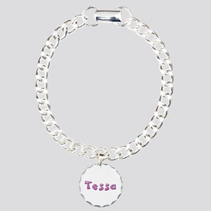 Tessa Pink Giraffe Charm Bracelet