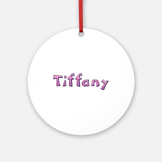 Tiffany Pink Giraffe Round Ornament