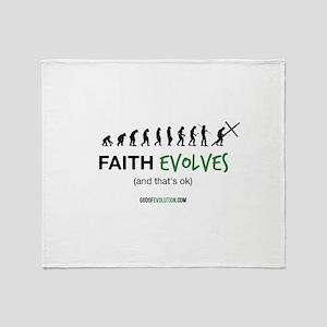 Faith Evolves Throw Blanket