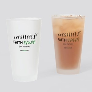 Faith Evolves Drinking Glass