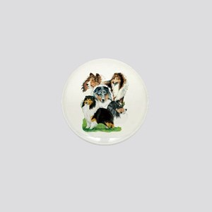 Sheltie Group Mini Button