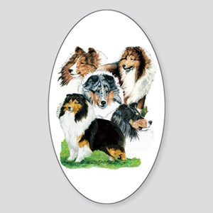 Sheltie Group Oval Sticker