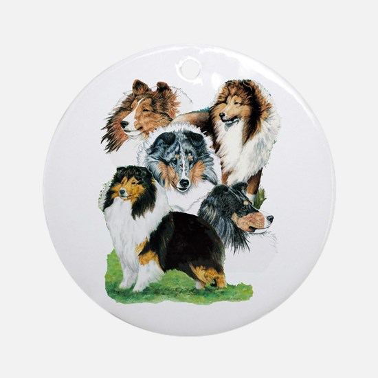 Sheltie Group Ornament (Round)